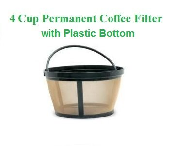 1 X 4 Cup Basket Style Permanent Coffee Filter Fits Mr Coffee 4 Cup
