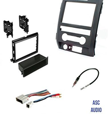 vehicles listed below – asc audio car stereo radio install dash kit, wire  harness, and antenna adapter to add an aftermarket radio for some ford  vehicles
